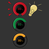 Indicators of idea Stock Image
