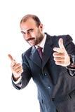 Indicazione dell'uomo d'affari Fotografie Stock Libere da Diritti