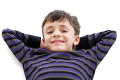 Indicazione sveglia del ragazzo Fotografia Stock Libera da Diritti