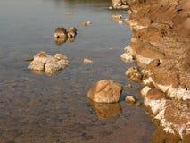 Indicazioni d di bassa marea fotografia stock