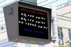Indice analitico di inquinamento atmosferico immagine stock
