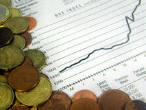 Indice analitico finanziario Fotografia Stock