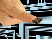 Indice con il USB dello zoccolo Fotografia Stock