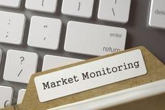 Indice della cartella con il monitoraggio del mercato 3d Immagine Stock Libera da Diritti