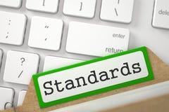 Indice della cartella con le norme 3d Fotografia Stock