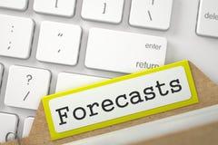 Indice della cartella con le previsioni 3d rendono Fotografie Stock Libere da Diritti