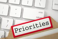 Indice della cartella con le priorità 3d Immagini Stock Libere da Diritti
