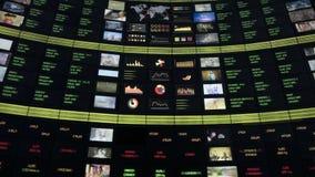 Indice des actions banque de vidéos