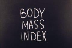 Indice di massa corporea Immagini Stock