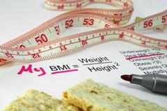 Indice di massa corporea BMI Fotografie Stock