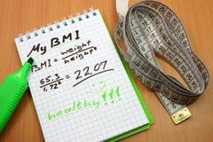 Indice di massa corporea BMI Fotografia Stock Libera da Diritti
