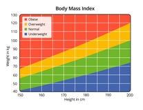 Indice di massa corporea nel cm e nel chilogrammo illustrazione di stock