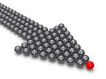 Indice fatto delle palle Immagini Stock