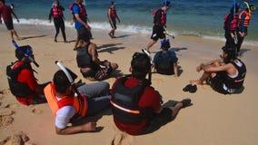 Indichi alla spiaggia Fotografia Stock Libera da Diritti