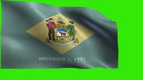 Indichi gli Stati Uniti d'America, lo stato di U.S.A., bandiera del Delaware, il DE, Dover, Wilmington, il 7 dicembre 1787 - CICL royalty illustrazione gratis