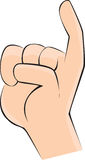 Indichi il dito Fotografie Stock Libere da Diritti