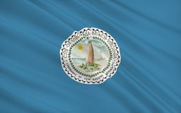 Indichi la bandiera di Virginia Beach - una città negli Stati Uniti, luoghi immagini stock