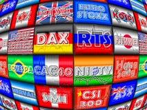 Indici analitici di equità del mondo Immagine Stock