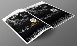 Indie bar magazine mockup Stock Images