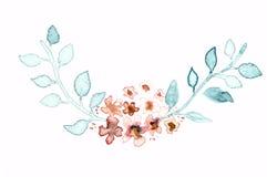 Indie Kranzmit blumenrahmen des Aquarells Aquarell mit Blumen lizenzfreie abbildung
