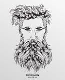 indie Mannhippie-Frisur vektor abbildung