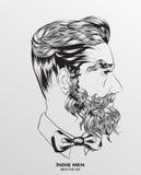 indie Mannhippie-Frisur lizenzfreie abbildung