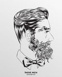 Indie men hipster hair style Stock Photos