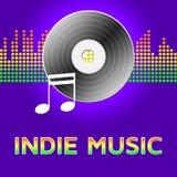 Indie Musik zeigt Illustration der Tonspur-3d stock abbildung