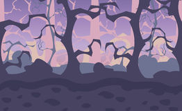 Indie seamless forest background stock illustration