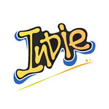 Indie Textlogotypographiedesign-Zeichenfahne lizenzfreie abbildung