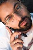 Indien à un téléphone Photos stock