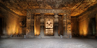 Indien Ajanta grotta arkivbild