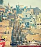 Indien, Ansicht über Varanasi-ghats Stockfoto