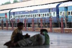 Indien-Bahnstation Stockbilder