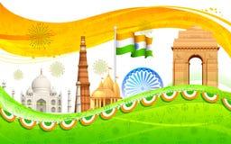 Indien bakgrund stock illustrationer