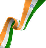 Indien bandflagga vektor illustrationer