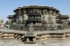 Indien Chennakesava tempel i Hassan Arkivbilder