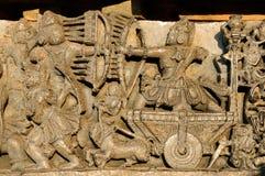 Indien Chennakesava tempel i Hassan Fotografering för Bildbyråer