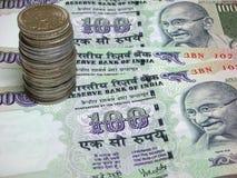Indien de devise Photographie stock libre de droits