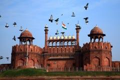 Indien Delhi, den röda forten Royaltyfri Fotografi