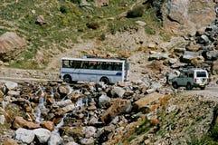 Indien, der Bus. Stockbilder