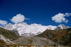Indien, der Gletscher. Lizenzfreies Stockfoto
