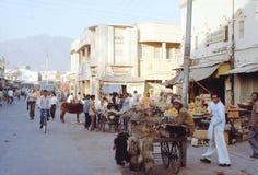 1977 Indien Eine Marktstraße in Rishikesh Stockfotos