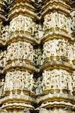 Indien-erotische Tempel in Khajuraho Lizenzfreie Stockfotografie