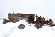1977 Indien Erstes Teehaus hinter Rohtang-La Stockbilder
