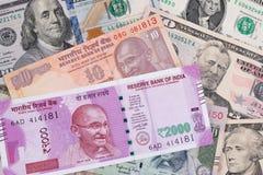Indien et affaires du commerce de finances d'économie des Etats-Unis Images libres de droits