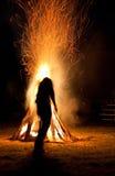 Indien et feu photos stock