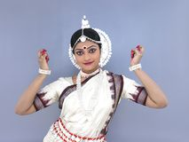 Indien féminin de danseur classique image libre de droits