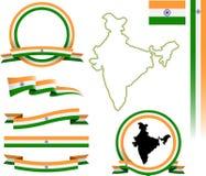 Indien-Fahnensatz Lizenzfreies Stockfoto