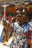 Indien-Festival, Buddhismus, Maske, bunt, ethnisch, Religion, Ladakh, Kostüm, Feiertag, schön, Lizenzfreie Stockfotos